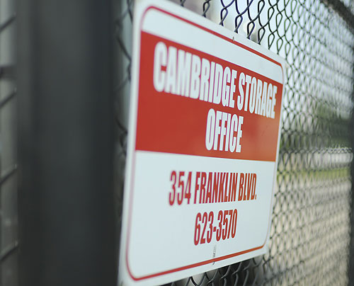 Cambridge Storage Office Sign